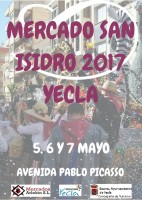 5th to 7th May San Isidro themed artisan market in Yecla