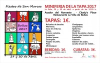 29th and 30th April Bullas Mini tapa feria for the Fiestas of San Marcos