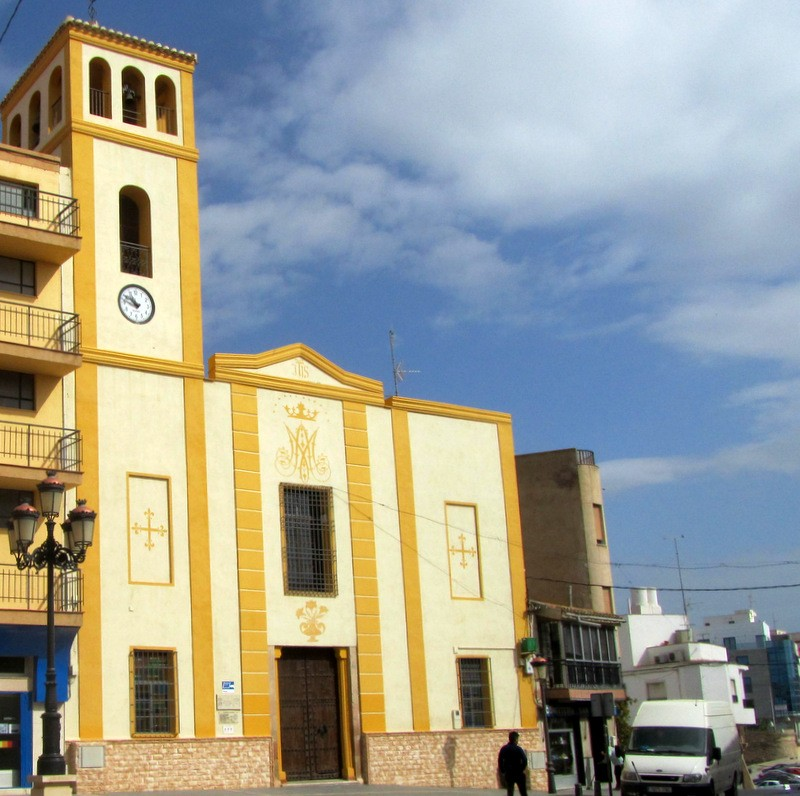 The church of Nuestra Señora del Rosario in Puerto Lumbreras