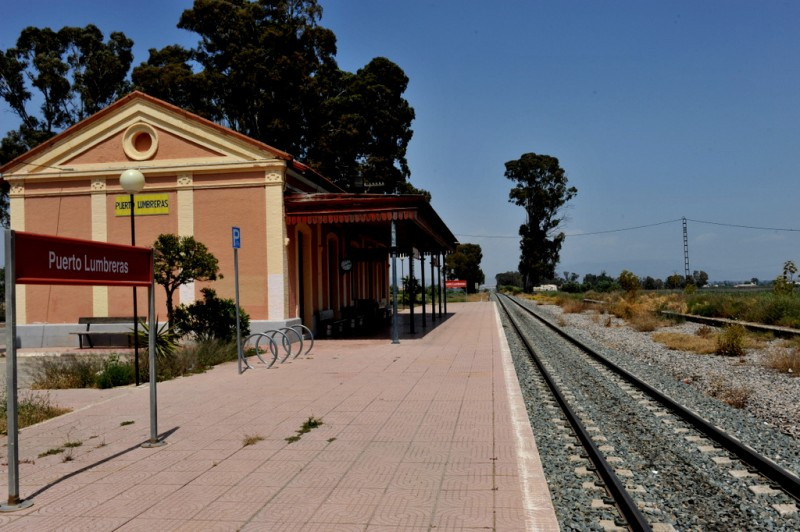 The railway station of Puerto Lumbreras