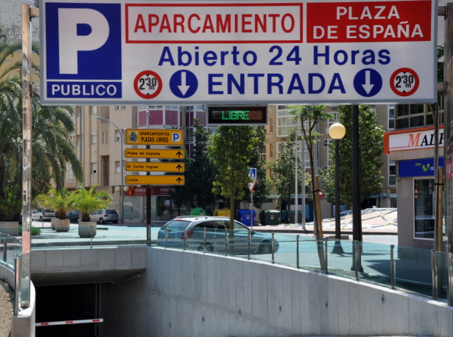 Parking in Cartagena, Locations and heights of Underground car parks