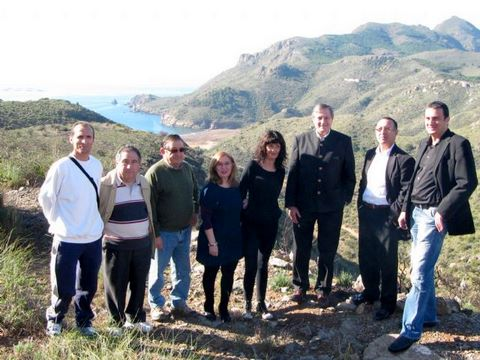 <span style='color:#780948'>ARCHIVED</span> - La Unión , Willy Meyer, Eurodeputy, visits El Gorguel and Portman Bay