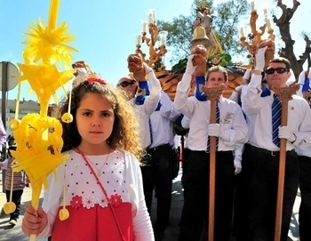 Palm Sunday Totana procession of the palms