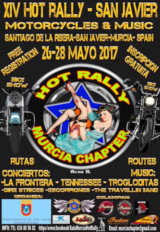 26th to 28th May Hot Rally-San Javier Motorcycles & Music festival