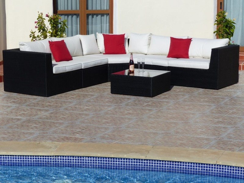 High quality PE rattan garden furniture at Oceans Rattan Furniture Cartagena
