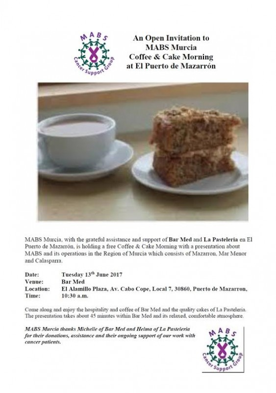 13th June MABS Mazarrón coffee morning