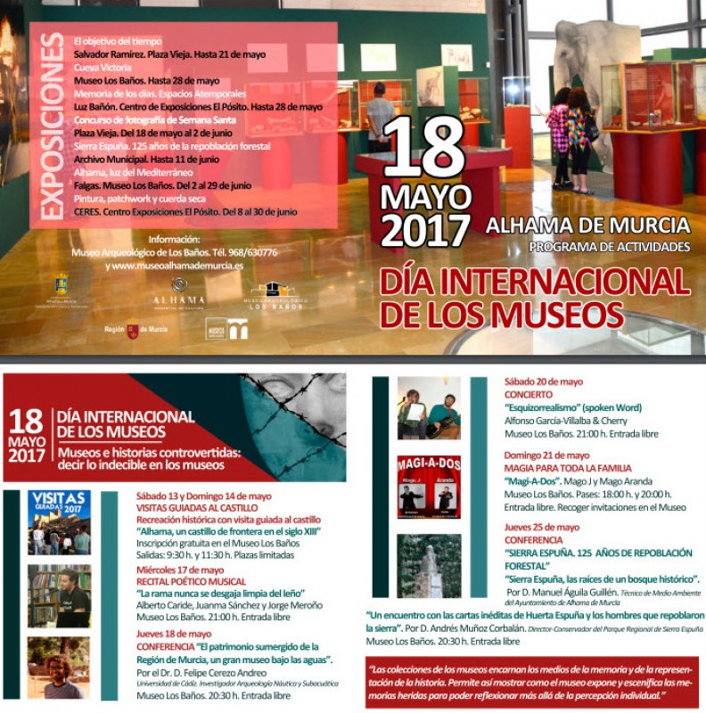 17th to 21st May International Museums day in Alhama de Murcia
