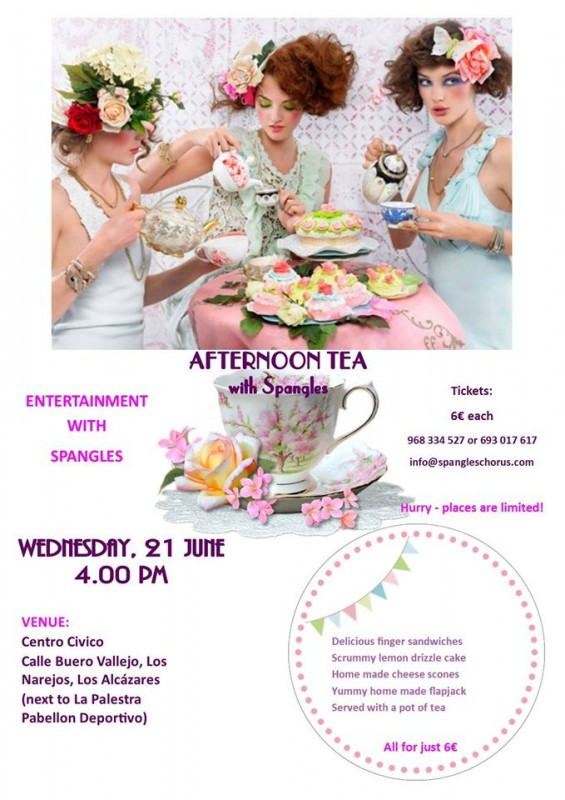 21st June Afternoon Tea with Spangles