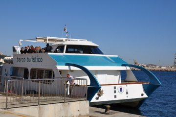 The Cartagena tourist boat, trips around the bay or across to the Fuerte de Navidad