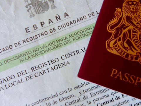 EU residency certificate in Spain