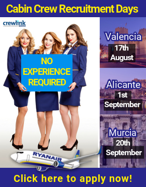 Crewlink Cabin Crew Recruitment home page