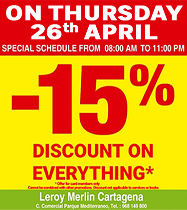 Leroy Merlin 26th April 2018 discount day