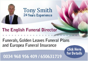 English funeral director