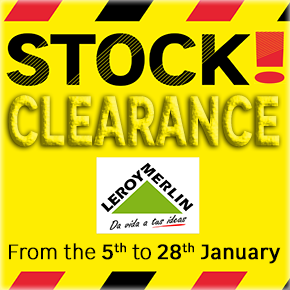 Leroy Merlin January Stock Clearance
