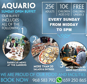 Aquario Sunday Buffet & New Year